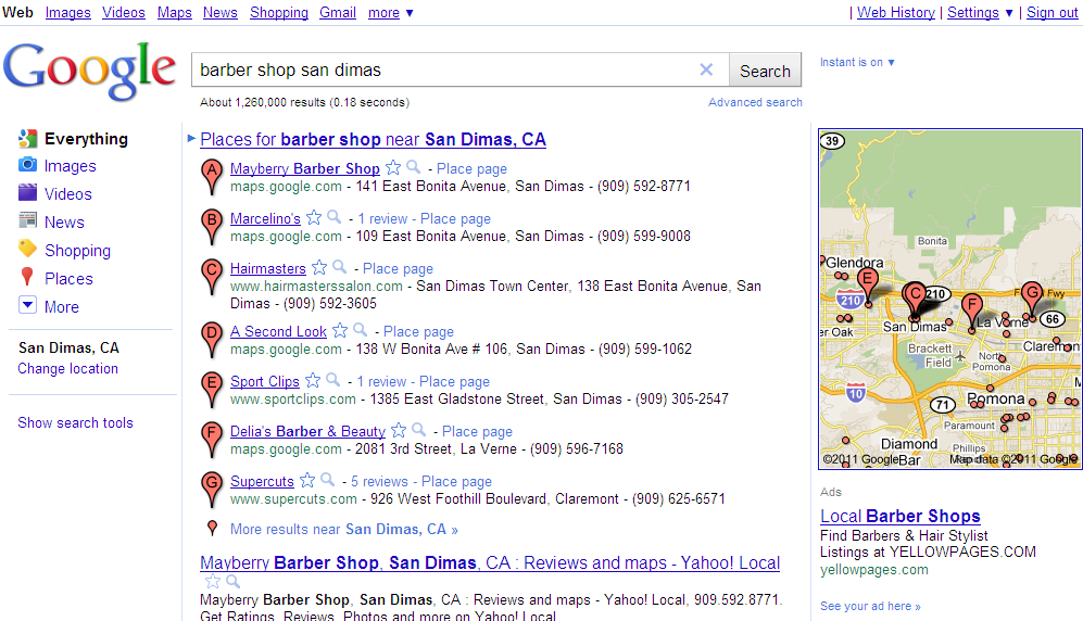 Google Places Directory Example