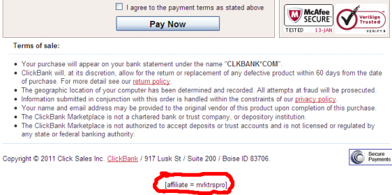 Clickbank Affiliate Confirmation