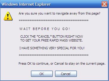 Popup Message Using Internet Explorer